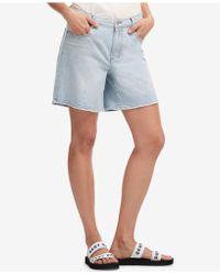 DKNY - Light Wash Denim Shorts, Created For Macy's - Lyst