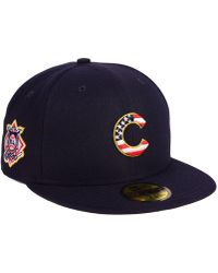 9e8db2f61a6 KTZ - Chicago Cubs Stars And Stripes 59fifty Fitted Cap - Lyst
