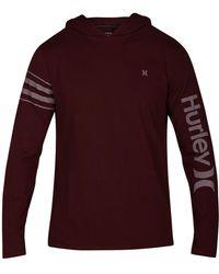 Hurley - Coastal Knits Logo Hoodie - Lyst