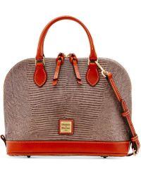 Dooney & Bourke - Lizard-Embossed Leather Satchel - Lyst