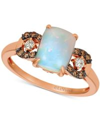 Le Vian - ® Neopolitan Opal (7/8 Ct. T.w.) & Chocolate And Vanilla Diamond (1/5 Ct. T.w.) Ring In 14k Rose Gold - Lyst