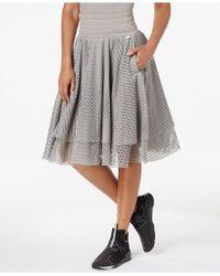 PUMA - En Pointe Mesh A-line Skirt - Lyst