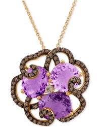 Le Vian - Amethyst (3/4 Ct. T.w.), Smoky Quartz (5/8 Ct. T.w.) And White Topaz Accent Pendant Necklace In 14k Rose Gold - Lyst