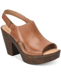 Born - Ferlin Wedge Sandals - Lyst