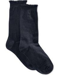 Hue - Solid Femme Top Sock - Lyst