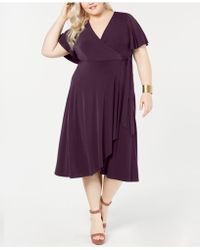 1145ed11c51 Lyst - Soprano Trendy Plus Size Cold-shoulder Fit   Flare Dress in Blue