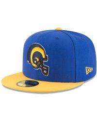 hot sales a7b10 05522 KTZ Los Angeles Rams Retro Logo 9fifty Snapback Cap in Blue for Men - Lyst