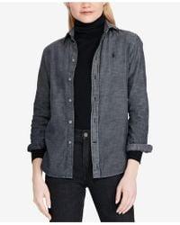 Polo Ralph Lauren - Slim Fit Chambray Cotton Shirt - Lyst