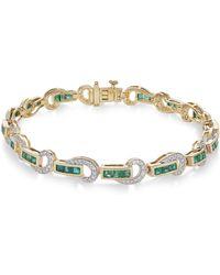 Macy's - Certified Ruby (3 Ct. T.w.) And Diamond (5/8 Ct. T.w.) Swirl Link Bracelet In 14k Gold - Lyst