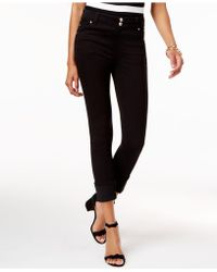 INC International Concepts - Cropped Curvy-fit Straight-leg Jeans - Lyst