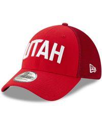 sports shoes 7f9b5 8d7e4 KTZ Utah Jazz Back 1 2 Series 9fifty Snapback Cap in Black for Men - Lyst