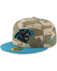 KTZ - Carolina Panthers Vintage Camo 59fifty Fitted Cap - Lyst 29e7dbf06