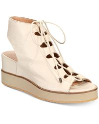Andre Assous - Tamsin Platform Lace-up Wedge Sandals - Lyst