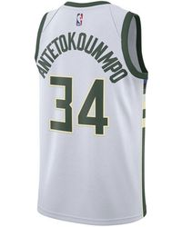 20af7a682ea Nike Giannis Antetokounmpo Nba Player Name & Number T-shirt in White for Men  - Lyst