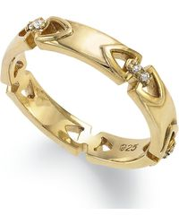 Proposition Love   14k Gold Over Silver Diamond Accent Ring   Lyst