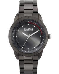Kenneth Cole Reaction - Black-tone Stainless Steel Bracelet Watch 44mm - Lyst