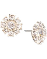 Givenchy - Crystal Cluster Button Stud Earrings - Lyst
