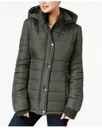 Rampage - Juniors' Hooded Puffer Coat - Lyst
