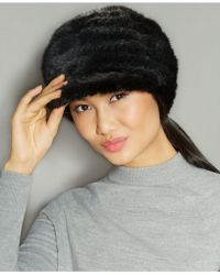 The Fur Vault - Knitted Mink Fur Hat - Lyst
