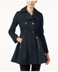 Laundry by Shelli Segal - Double-breasted Skirted Walker Coat - Lyst
