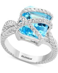 Effy Collection - Sky Blue Topaz (7-3/8 Ct. T.w.) & White Topaz (1/5 Ct. T.w.) In Sterling Silver - Lyst
