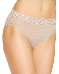 Vanity Fair - Flattering Lace Hi-cut Panty 13280 - Lyst