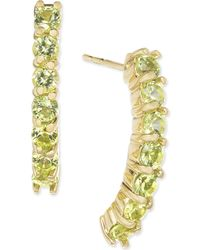 Macy's - Peridot Linear Drop Earrings (1-3/8 Ct. T.w.) In 14k Gold - Lyst