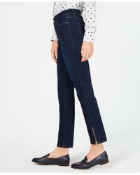 30978f932de Charter Club - Zipper-cuff Dark Wash Skinny Jeans, Created For Macy's - Lyst