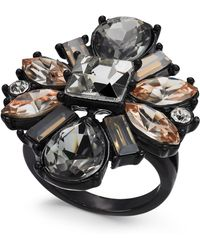 INC International Concepts - I.n.c. Black-tone Multi-crystal Statement Ring, Created For Macy's - Lyst