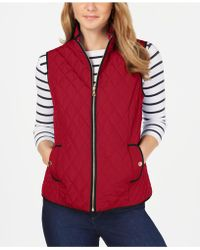 Charter Club - Petite Quilted Mock-neck Vest, Created For Macy's - Lyst