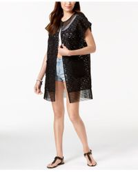 Steve Madden - Out-of-town Mesh Kimono & Cover-up - Lyst