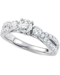 Macy's - Diamond Twist Engagement Ring (1-1/4 Ct. T.w.) In 14k White Gold - Lyst
