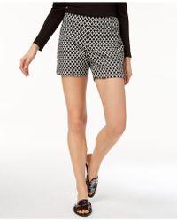 INC International Concepts - Curvy Printed Jacquard Shorts - Lyst
