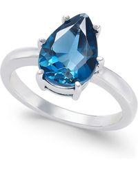 Macy's - London Blue Topaz Ring (3-1/2 Ct. T.w.) In Sterling Silver - Lyst