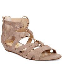 Callisto   Lexx Gladiator Wedge Sandals   Lyst