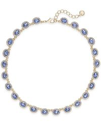 Charter Club - Silver-tone Pavé & Pink Stone Collar Necklace - Lyst