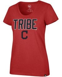 47 Brand - Cleveland Indians Club Scoop Logo T-shirt - Lyst