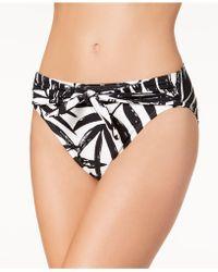 Carmen Marc Valvo - Printed Front-tie Bikini Bottoms - Lyst
