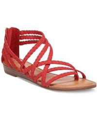 Carlos By Carlos Santana - Amara Braided Flat Sandals - Lyst