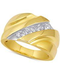 Macy's - Diamond Channel Ring (1 Ct. T.w.) In 10k Gold - Lyst