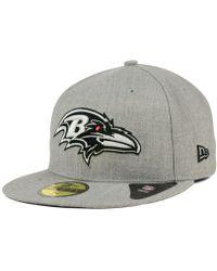 Lyst - Ktz Baltimore Ravens Team Screening 59fifty Cap in Gray for Men b71f98892
