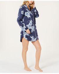 Linea Donatella - Sleepy Head Flower-print Satin Sleepshirt Shm160 - Lyst