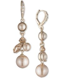 Givenchy - Gold-tone Imitation Pearl & Crystal Drop Earrings - Lyst