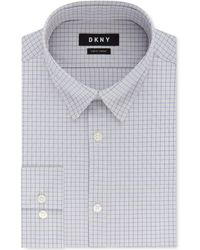 DKNY - Slim-fit Performance Active Stretch Check Dress Shirt, Created For Macy's - Lyst