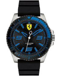 Ferrari - Men's Xx Kers Black Silicone Strap Watch 44mm - Lyst