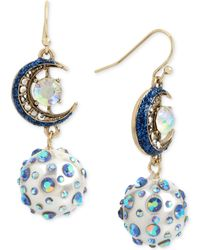 Betsey Johnson - Celestial Blue Moon Drop Earrings - Lyst