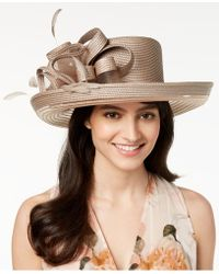 August Accessories - Citrine Romantic Dressy Hat - Lyst