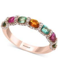 Effy Collection - Effy® Multi-tourmaline (2 Ct. T.w.) & Diamond (1/3 Ct. T.w.) Ring In 14k Rose Gold - Lyst