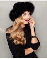 The Fur Vault - Fox-fur-trim Cashmere Hat - Lyst