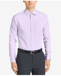 CALVIN KLEIN 205W39NYC - Steel Men's Classic Fit Non-iron Performance Solid Dress Shirt - Lyst